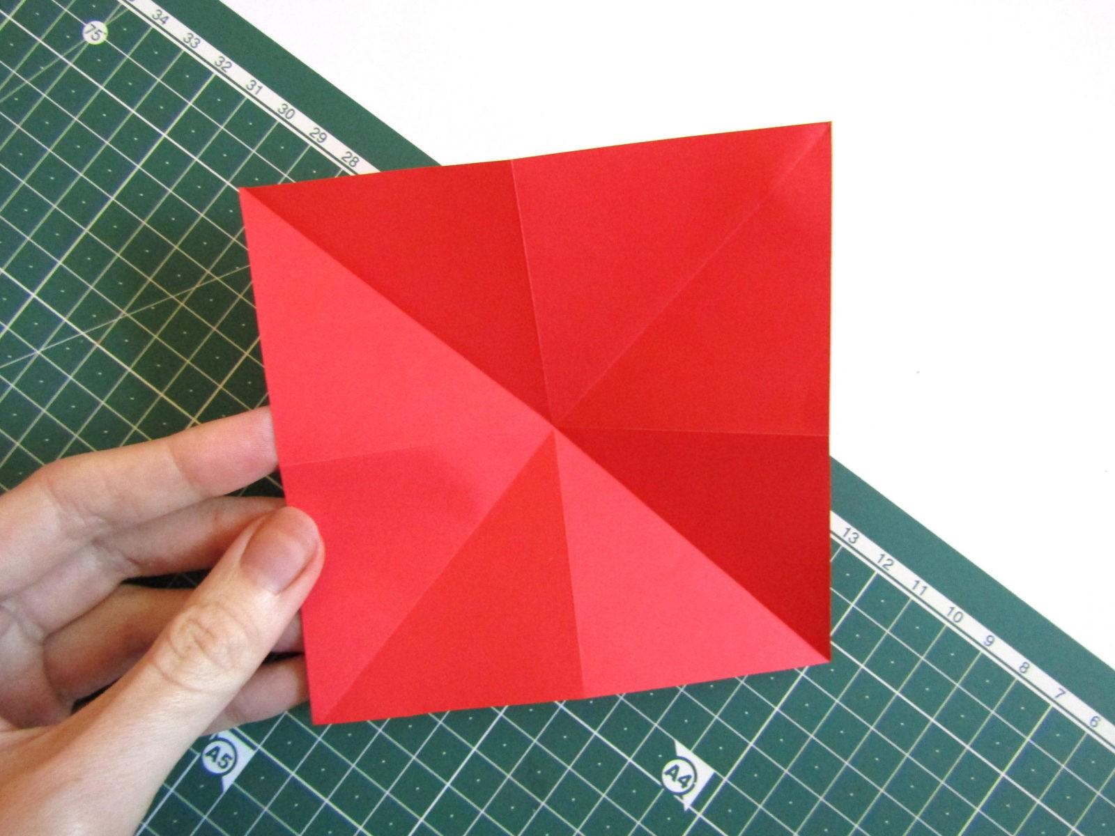 Оригами тюльпан из бумаги -3