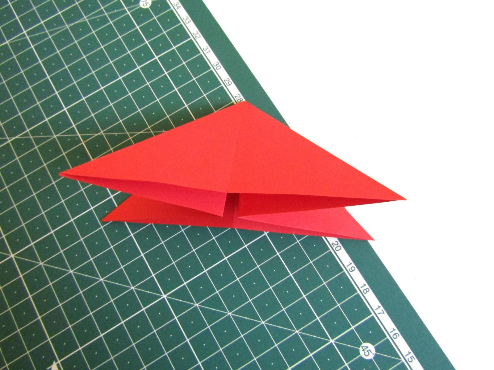 Оригами тюльпан из бумаги -4