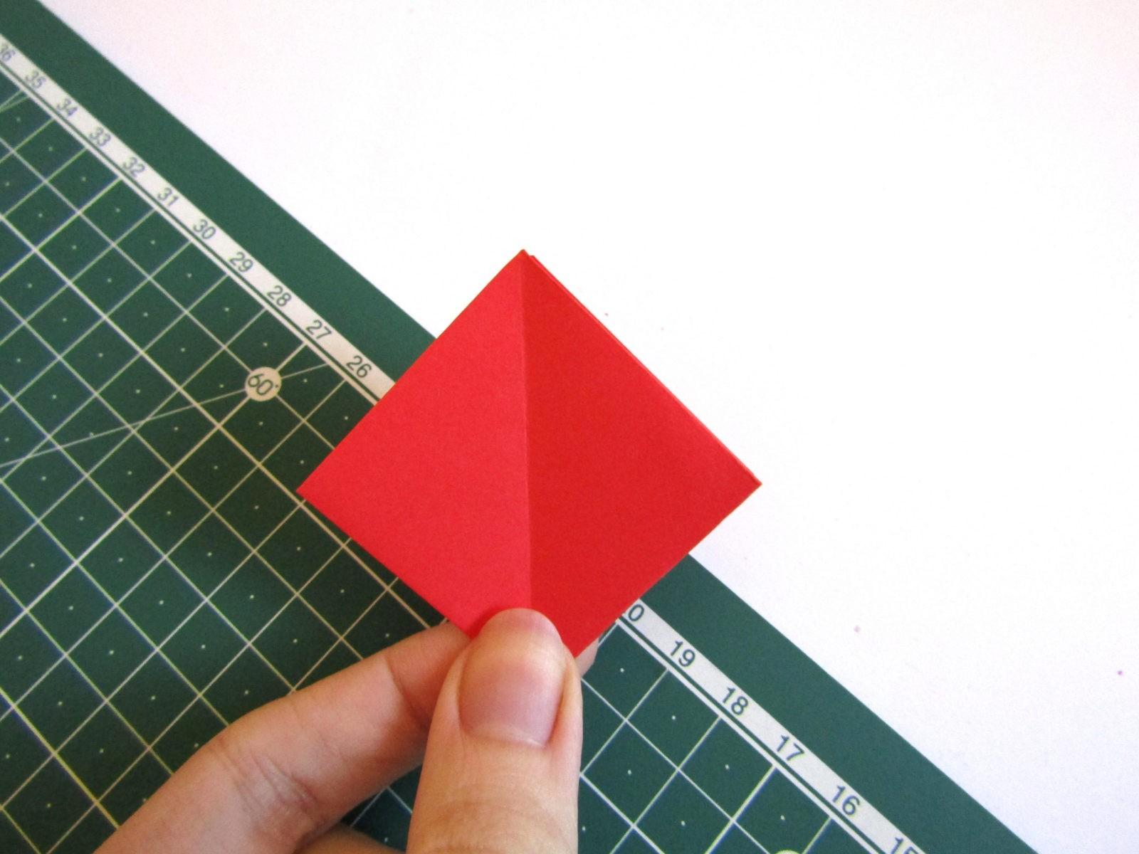 Оригами тюльпан из бумаги -7