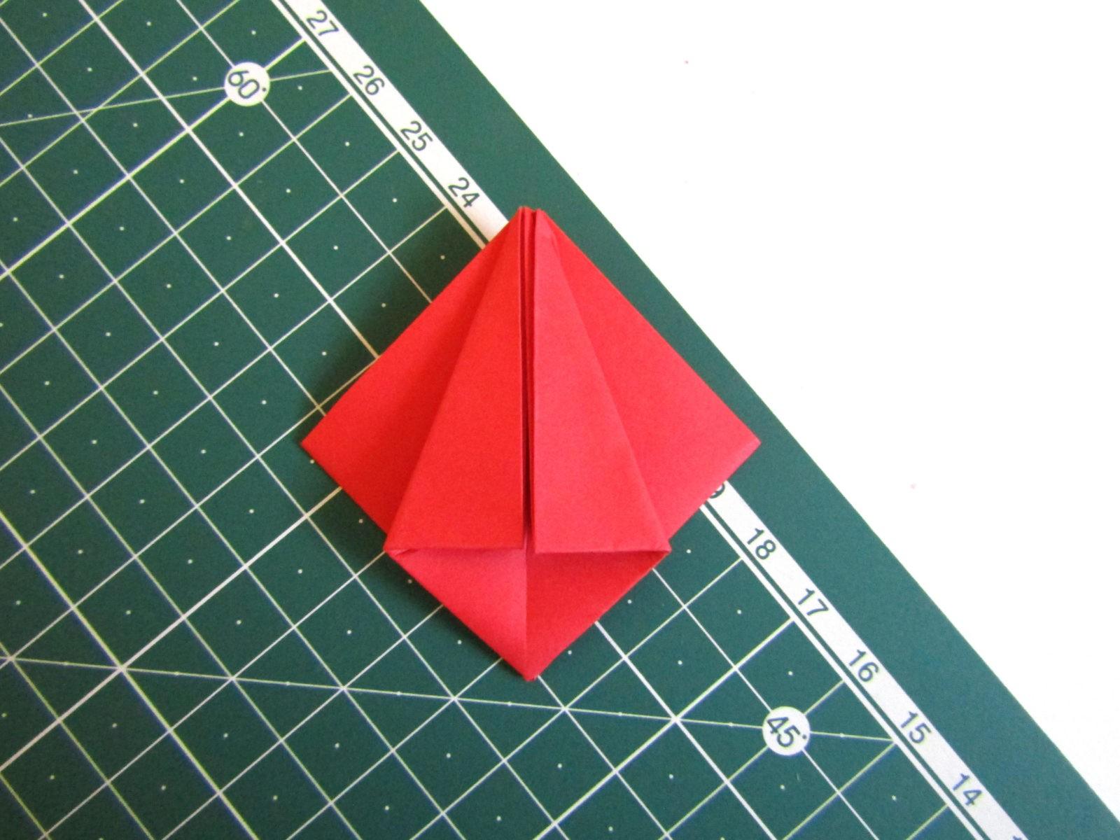 Оригами тюльпан из бумаги -8