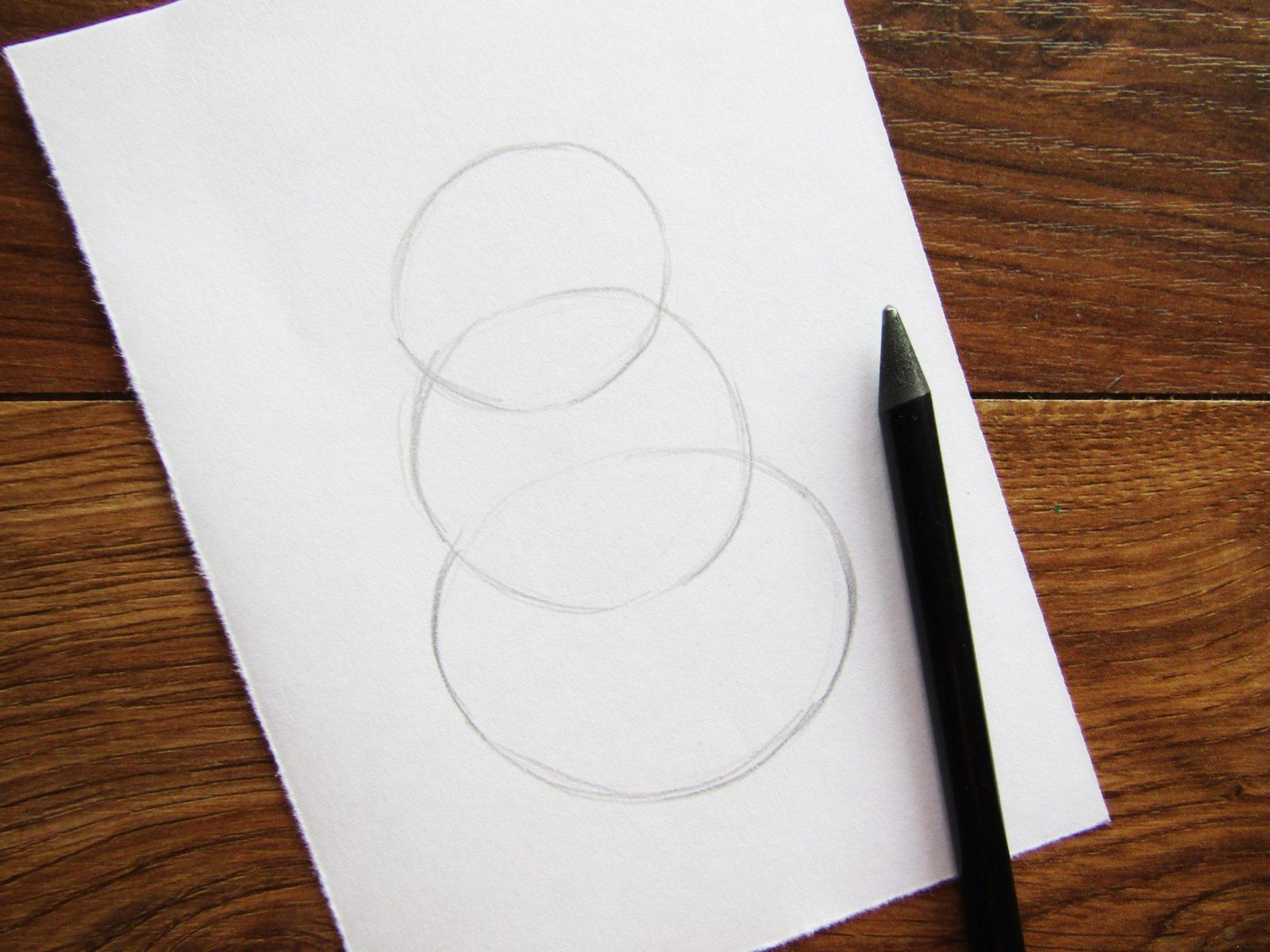 Как нарисовать снеговика гуашью - 2