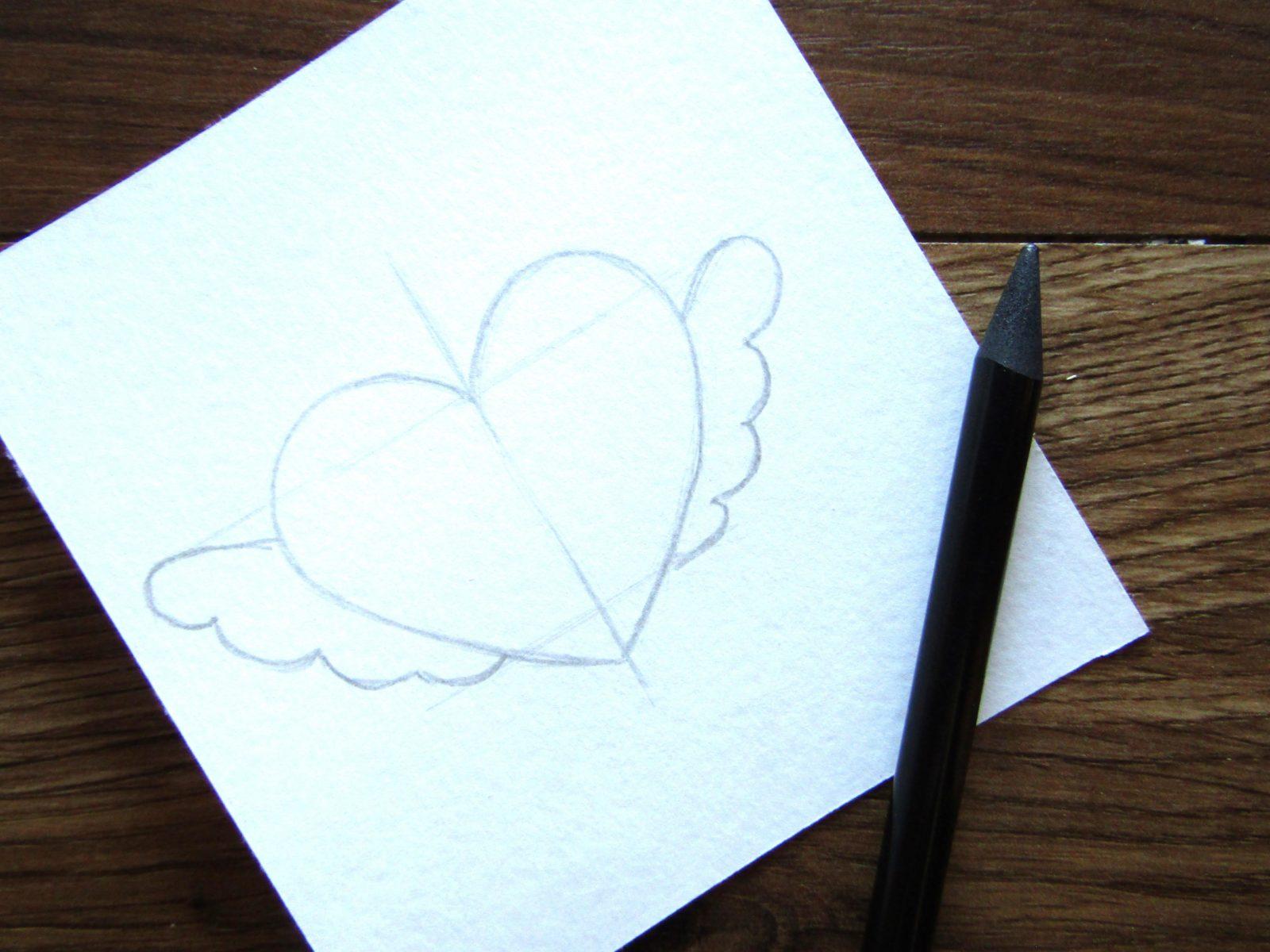 Как нарисовать сердечко гуашью - 3