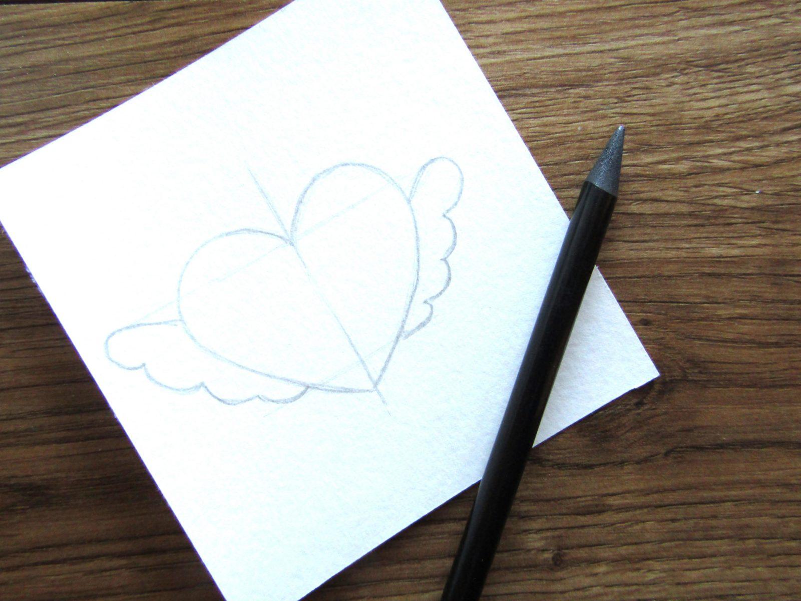 Как нарисовать сердечко гуашью - 4