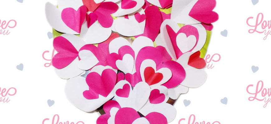 Сердце панно на День святого Валентина