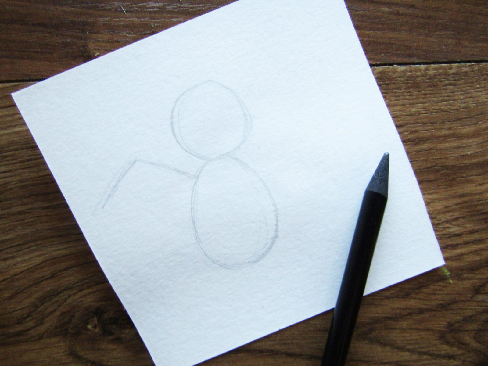 Как нарисовать ангелочка с цветком гуашью - 2