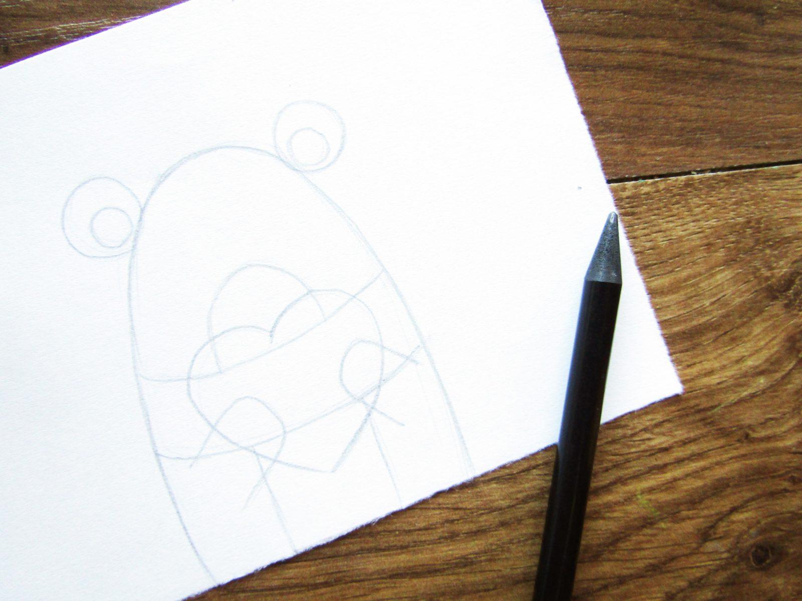 Рисунок на День святого Валентина гуашью - 4