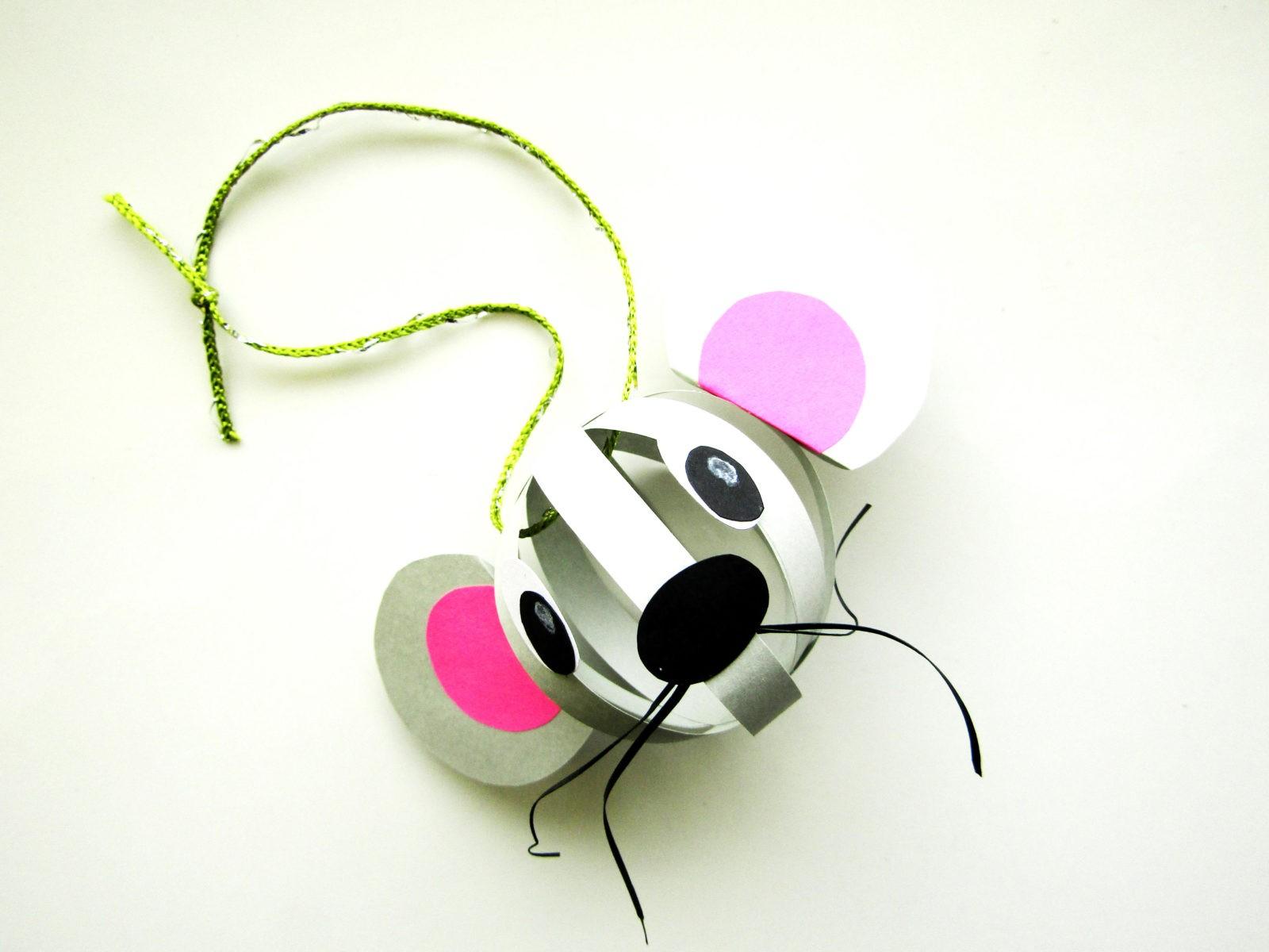 Объемная поделка мышка из бумаги