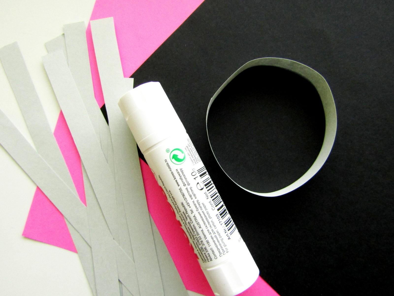 Объемная поделка мышка из бумаги - 3