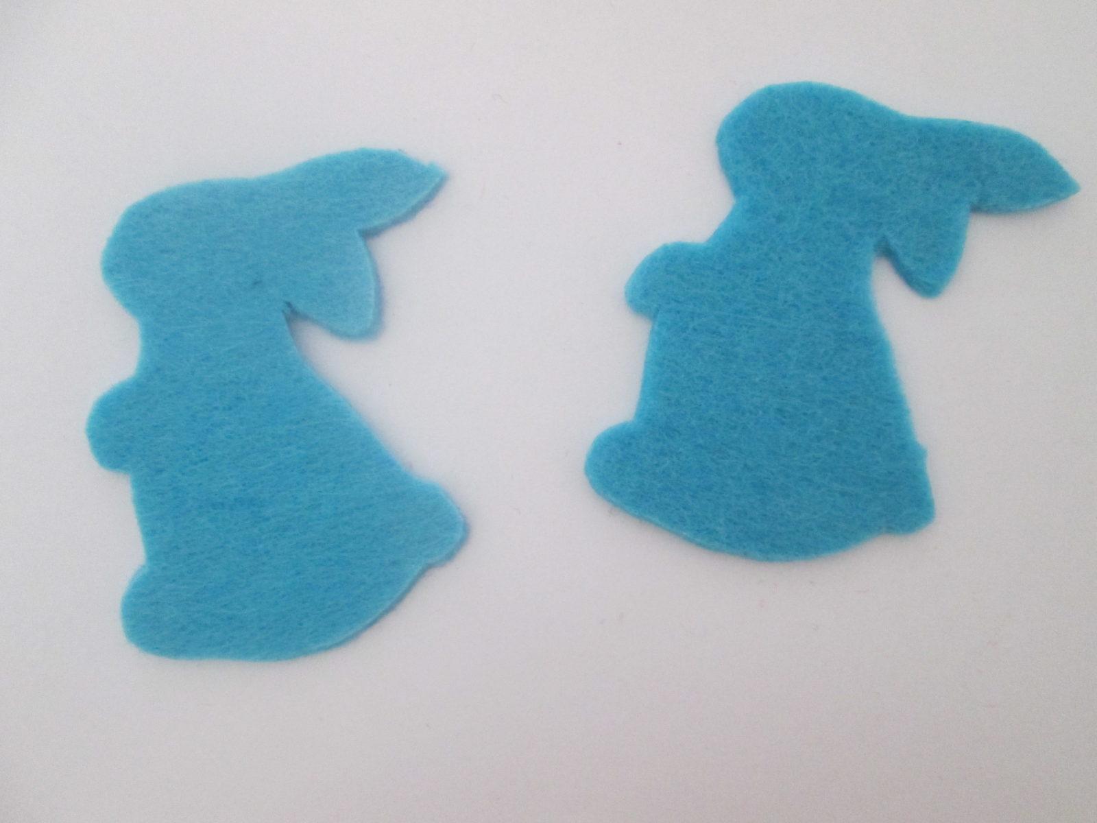 Поделка пасхальный кролик на палочке - 2