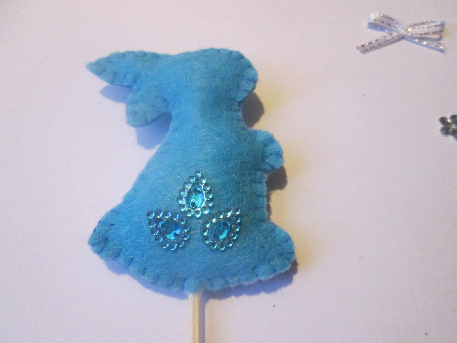 Поделка пасхальный кролик на палочке - 5