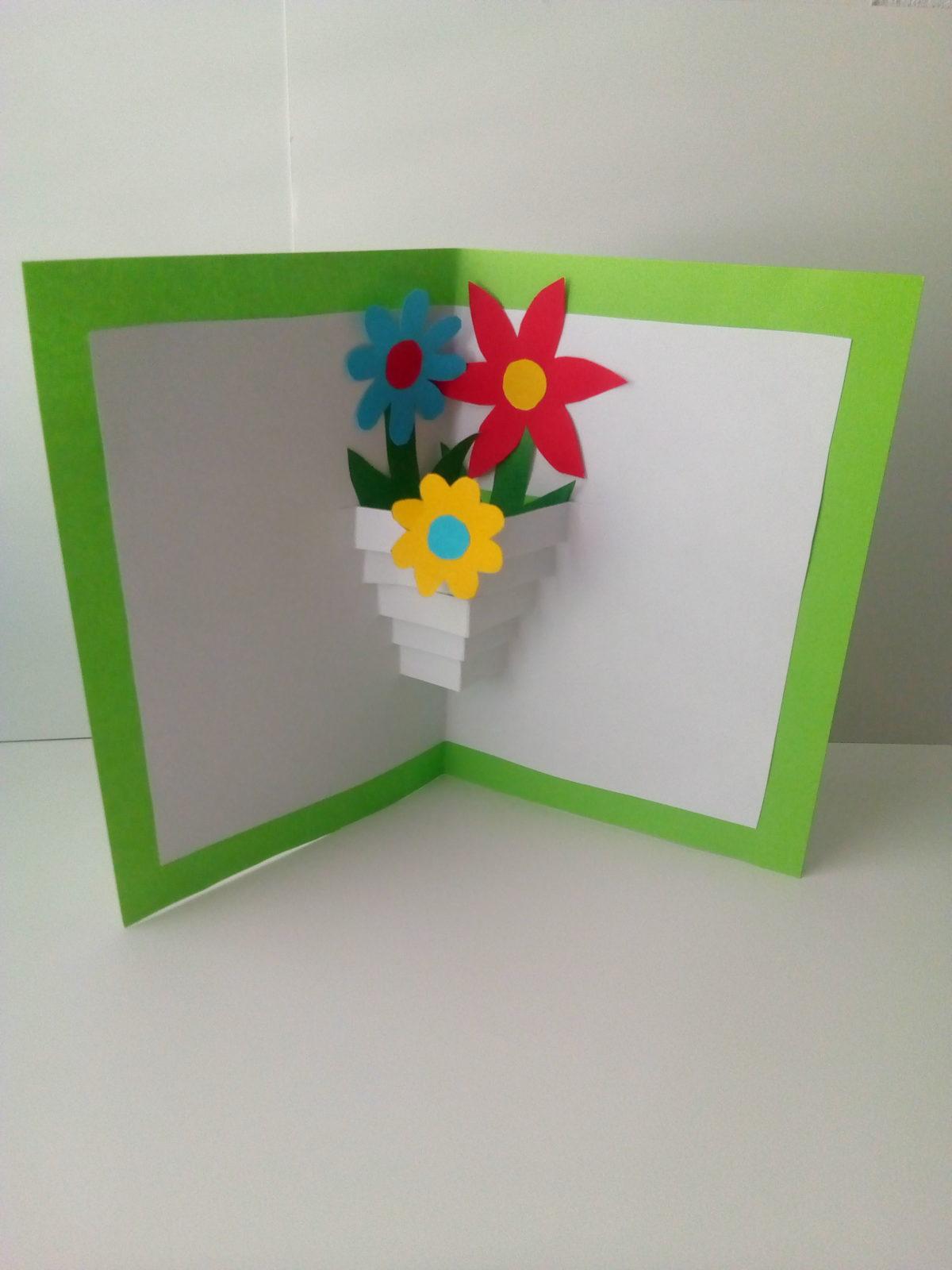 Объемная открытка «Ваза с цветами»-9