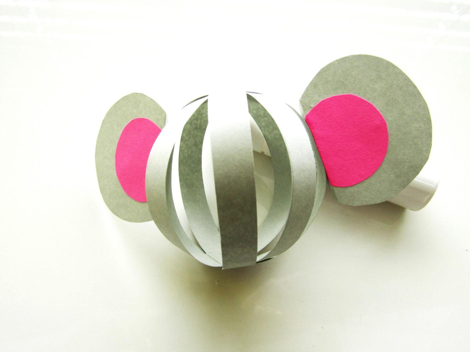 Объемная поделка мышка из бумаги - 7