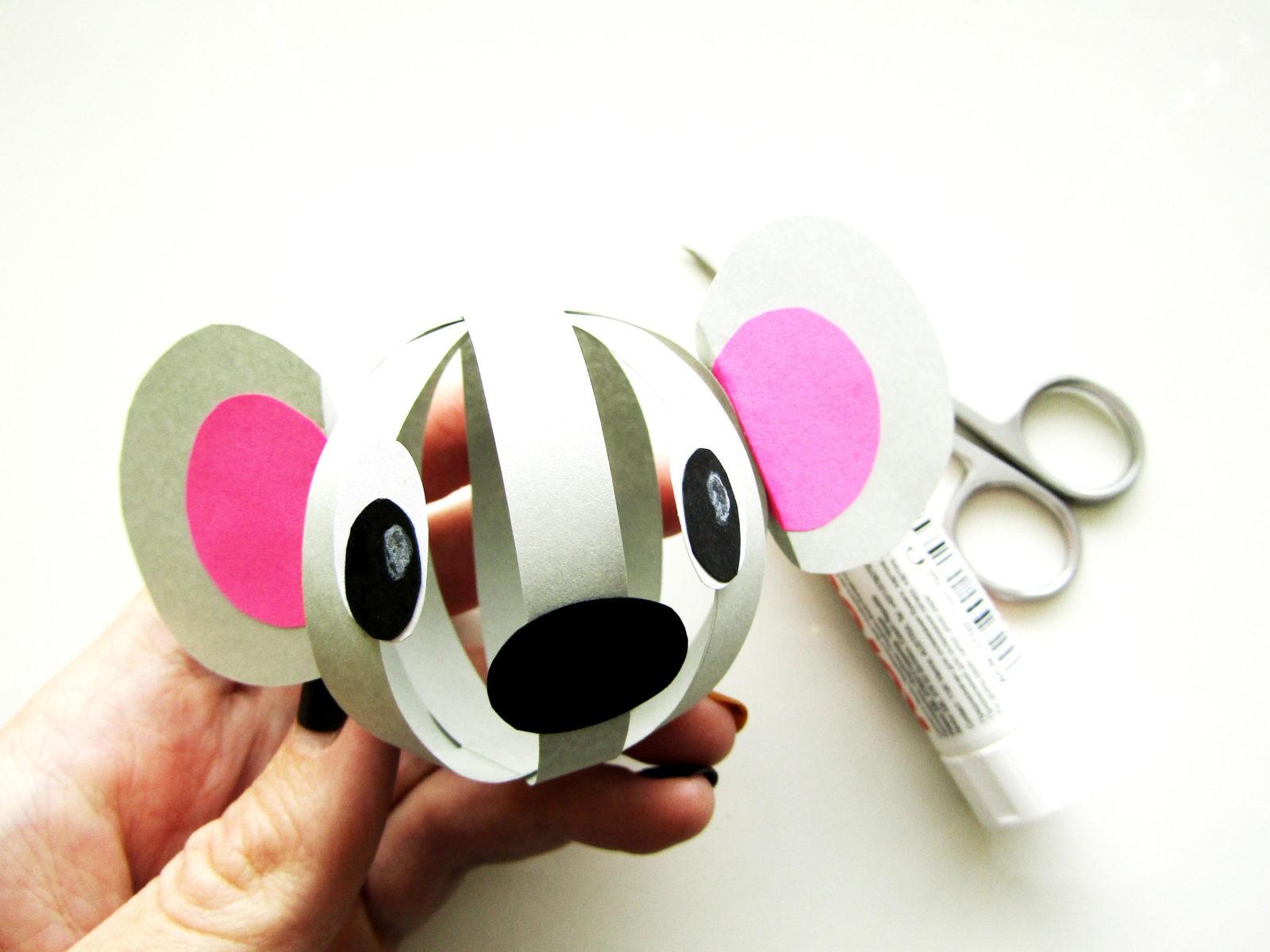 Объемная поделка мышка из бумаги - 8