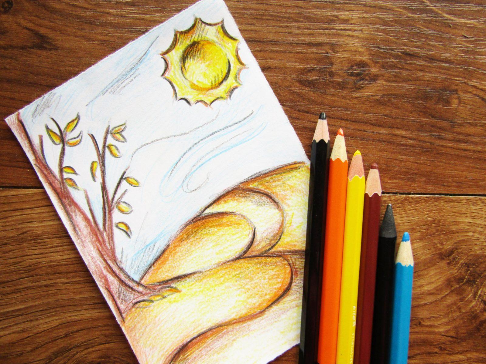 Как нарисовать осенний пейзаж - 1