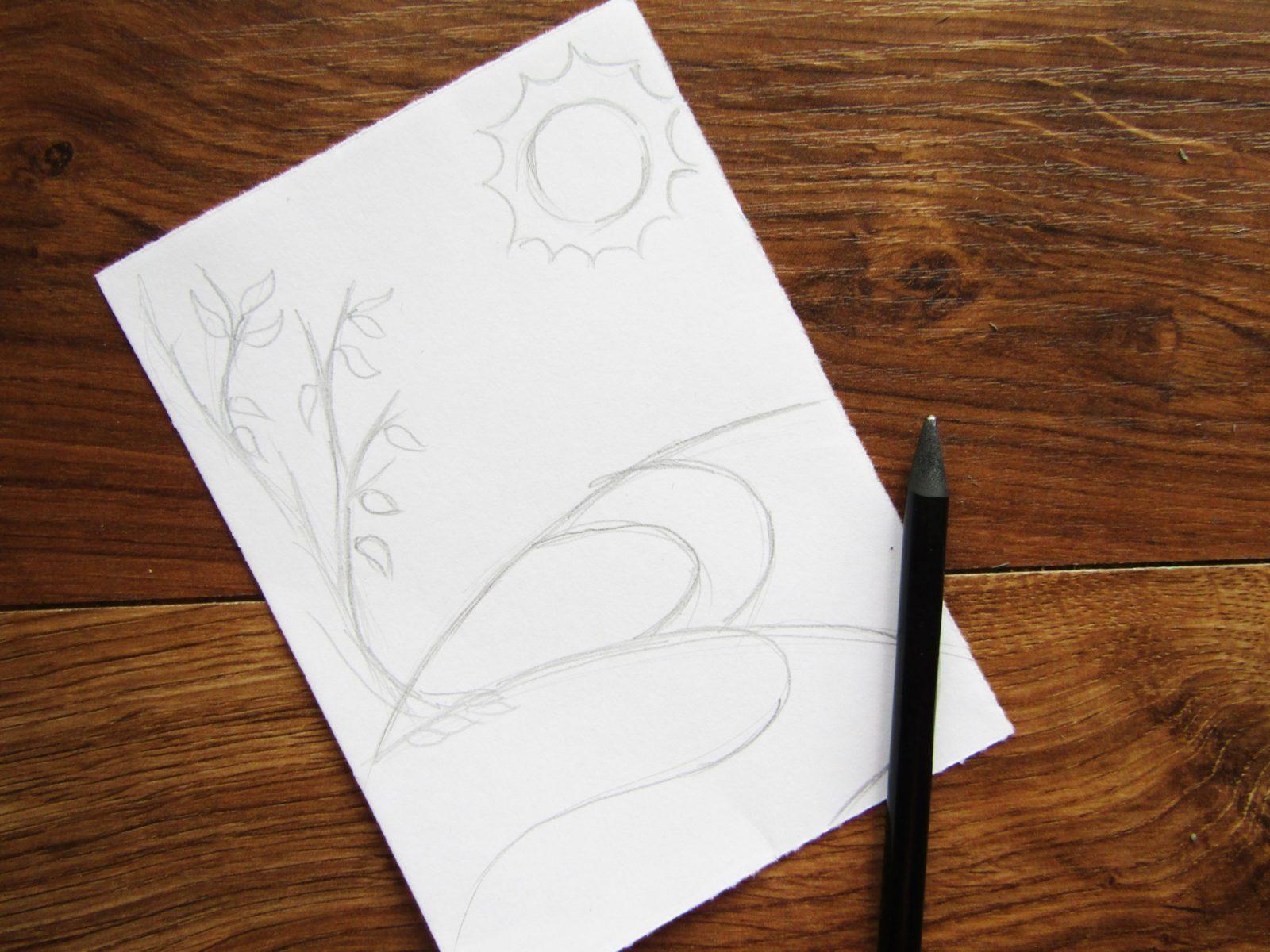 Как нарисовать осенний пейзаж - 3