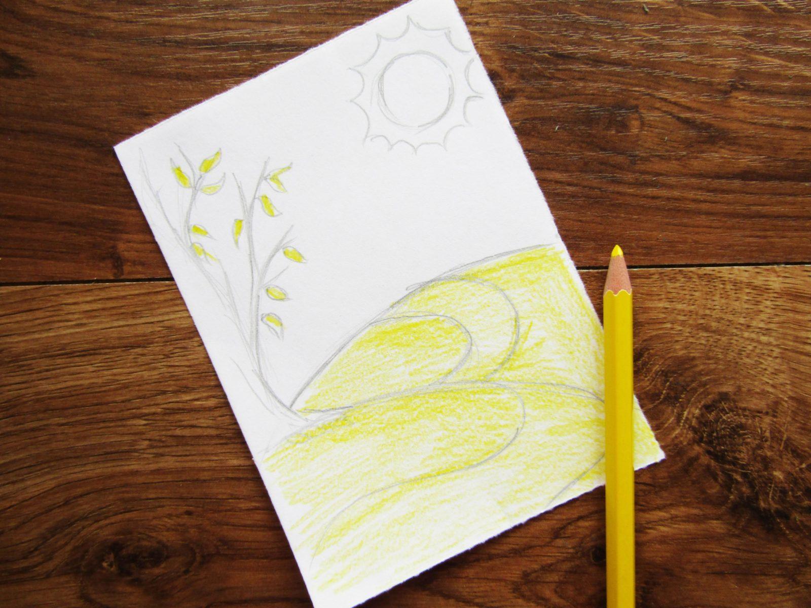 Как нарисовать осенний пейзаж - 4