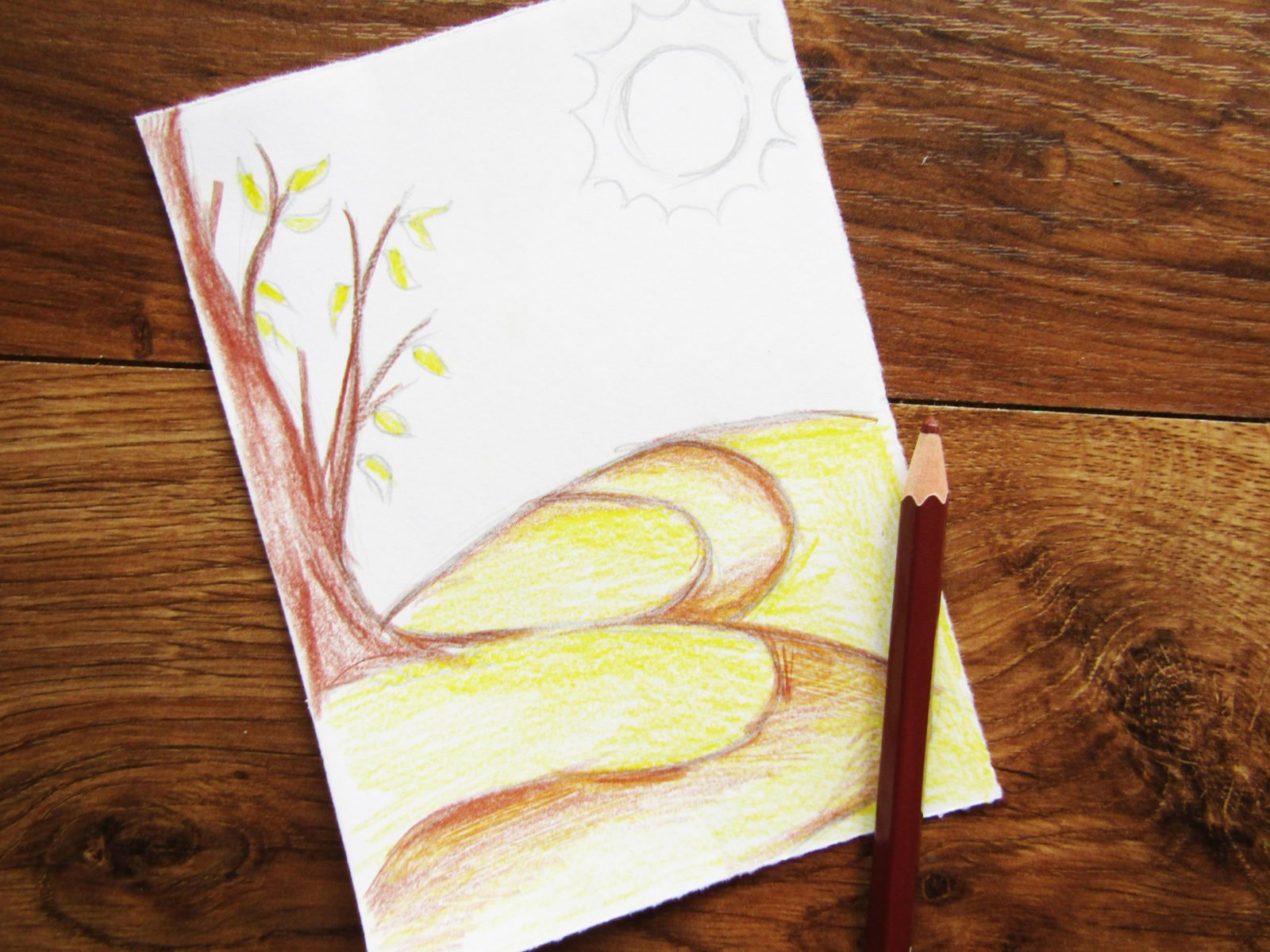 Как нарисовать осенний пейзаж - 5