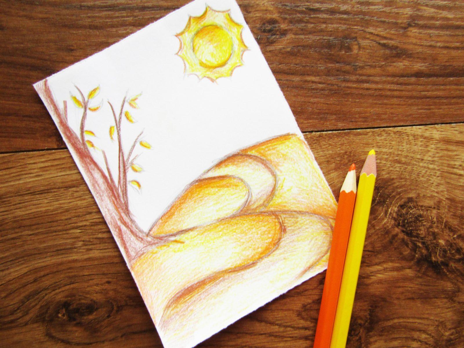 Как нарисовать осенний пейзаж - 6