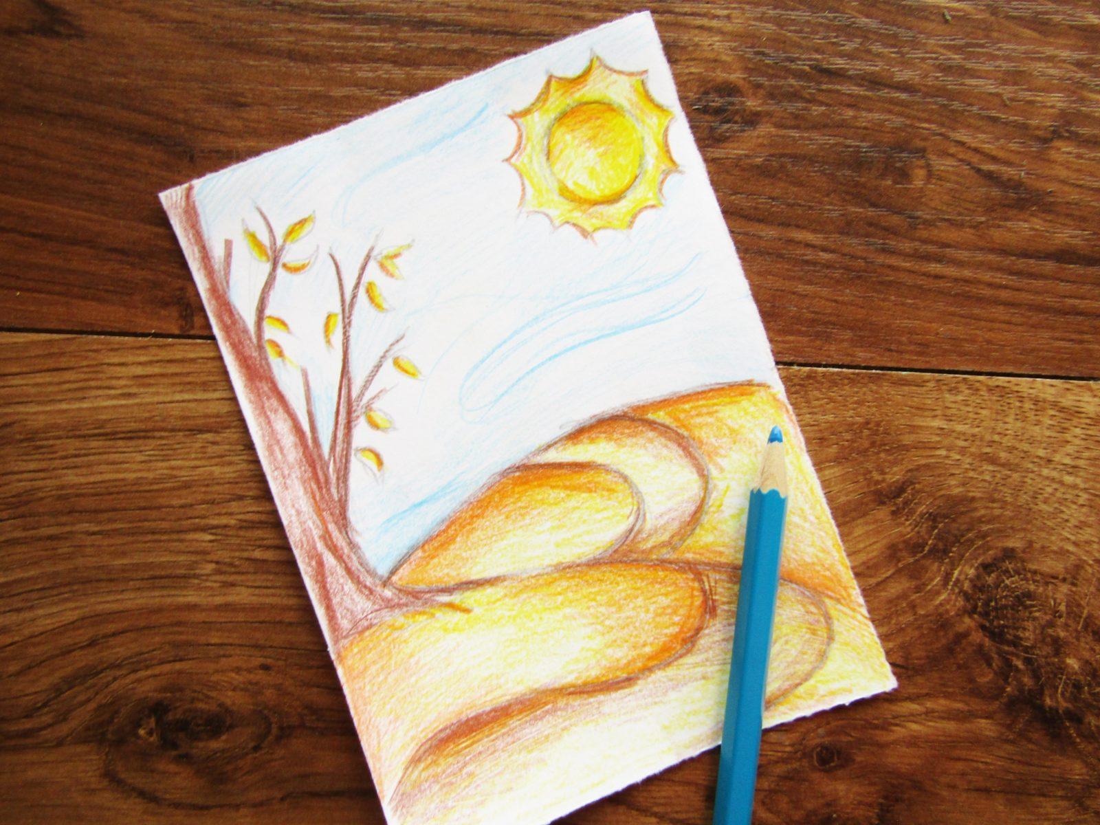 Как нарисовать осенний пейзаж - 7