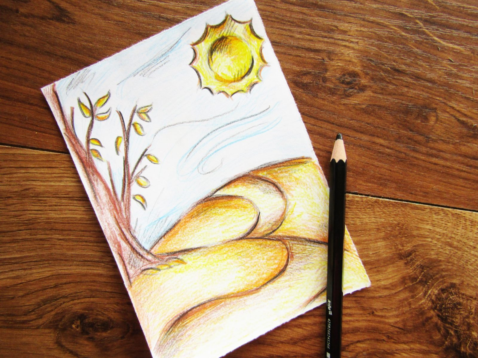 Как нарисовать осенний пейзаж - 8