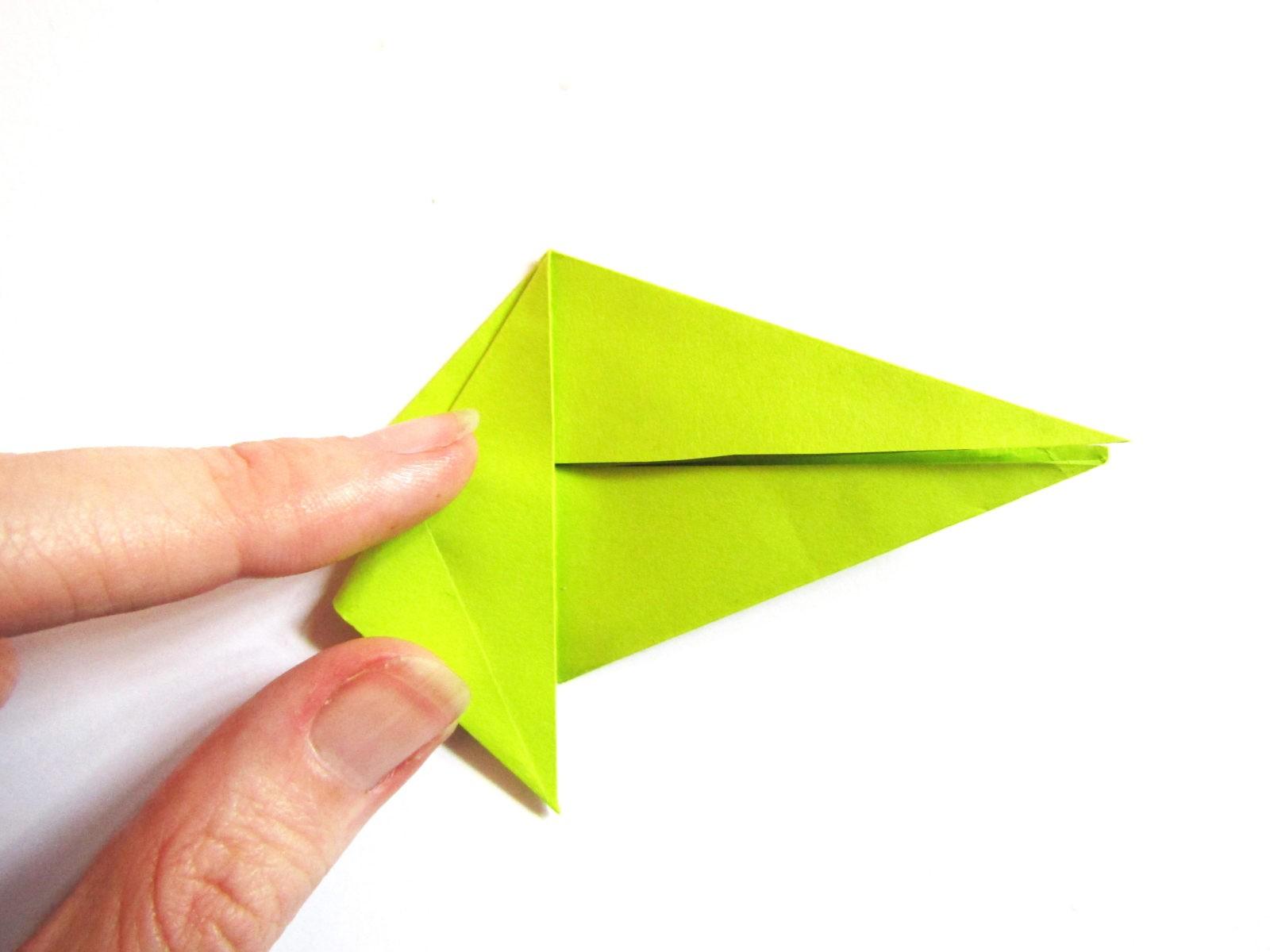 Динозавр оригами из бумаги-10
