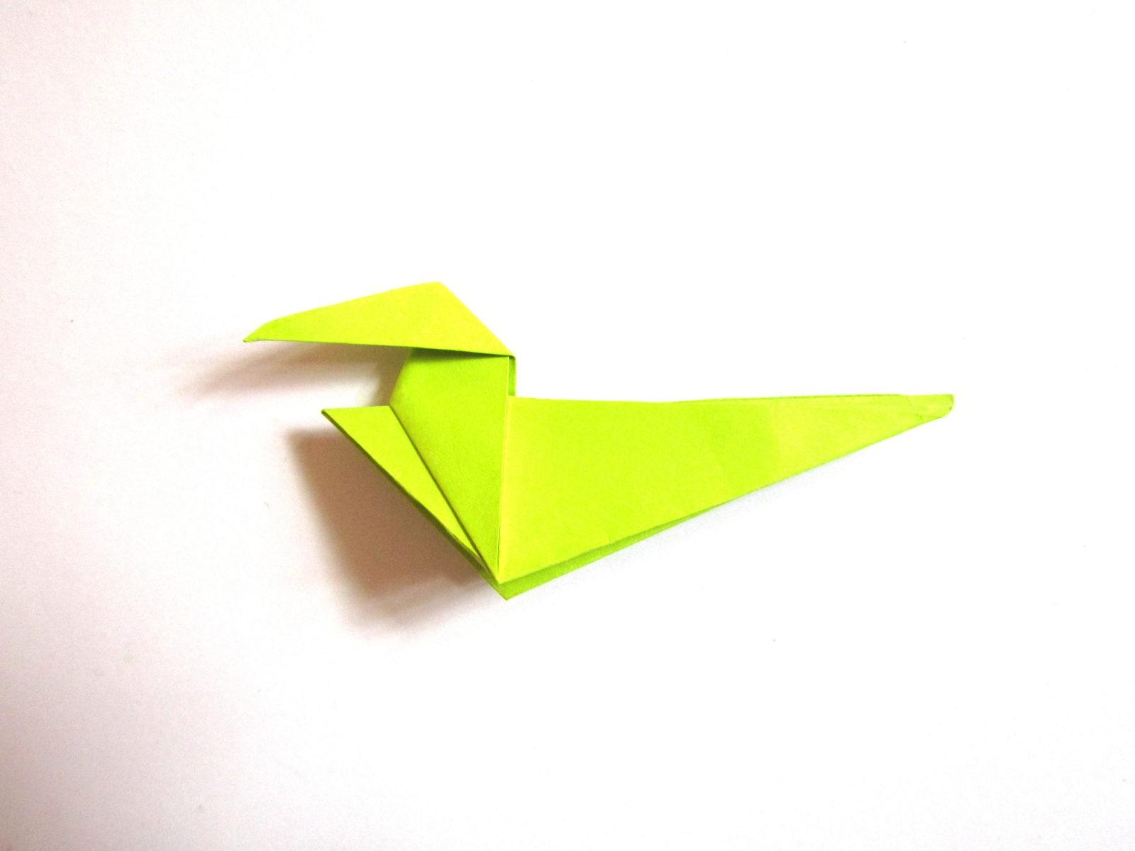 Динозавр оригами из бумаги-13