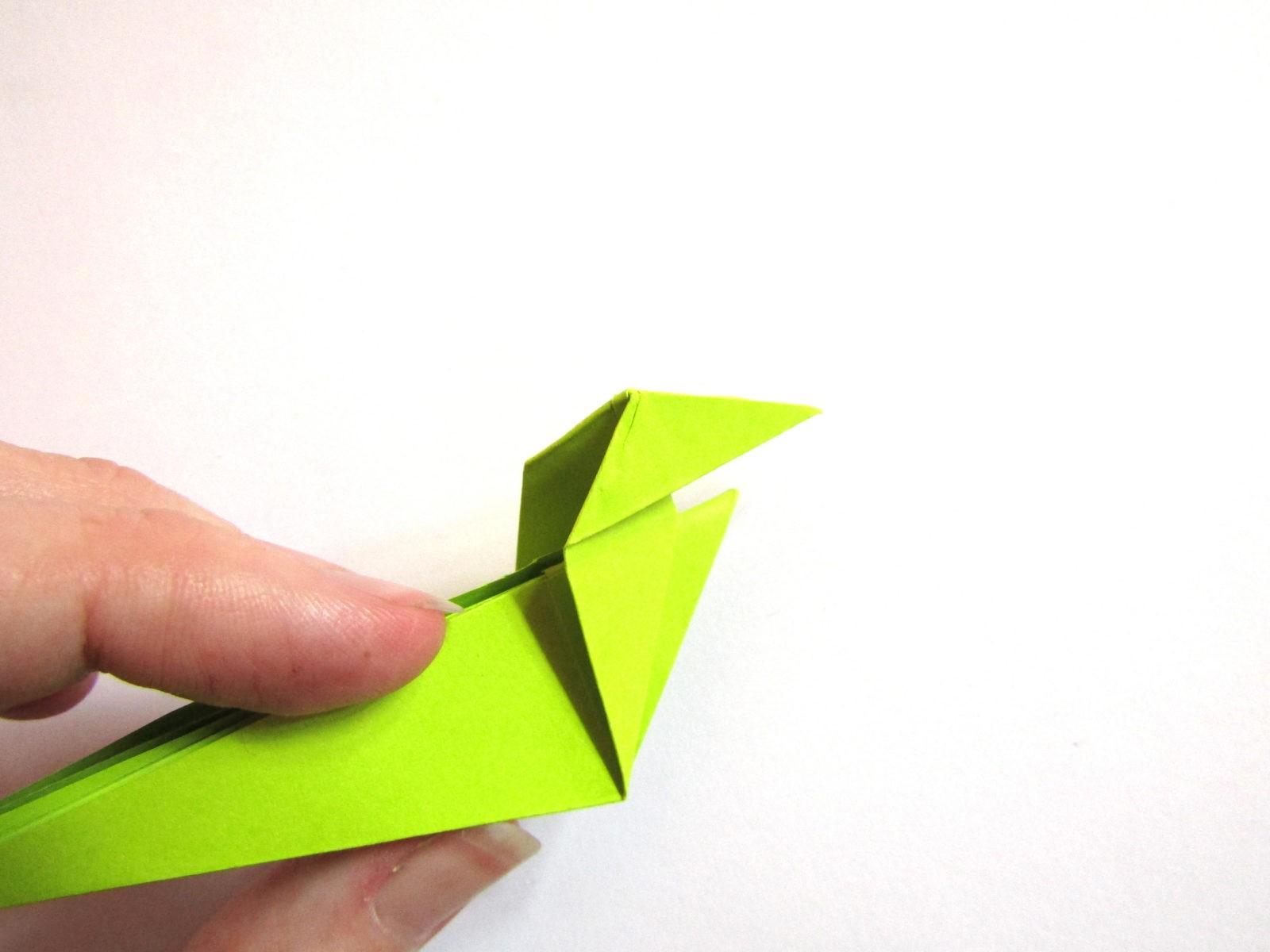Динозавр оригами из бумаги-14