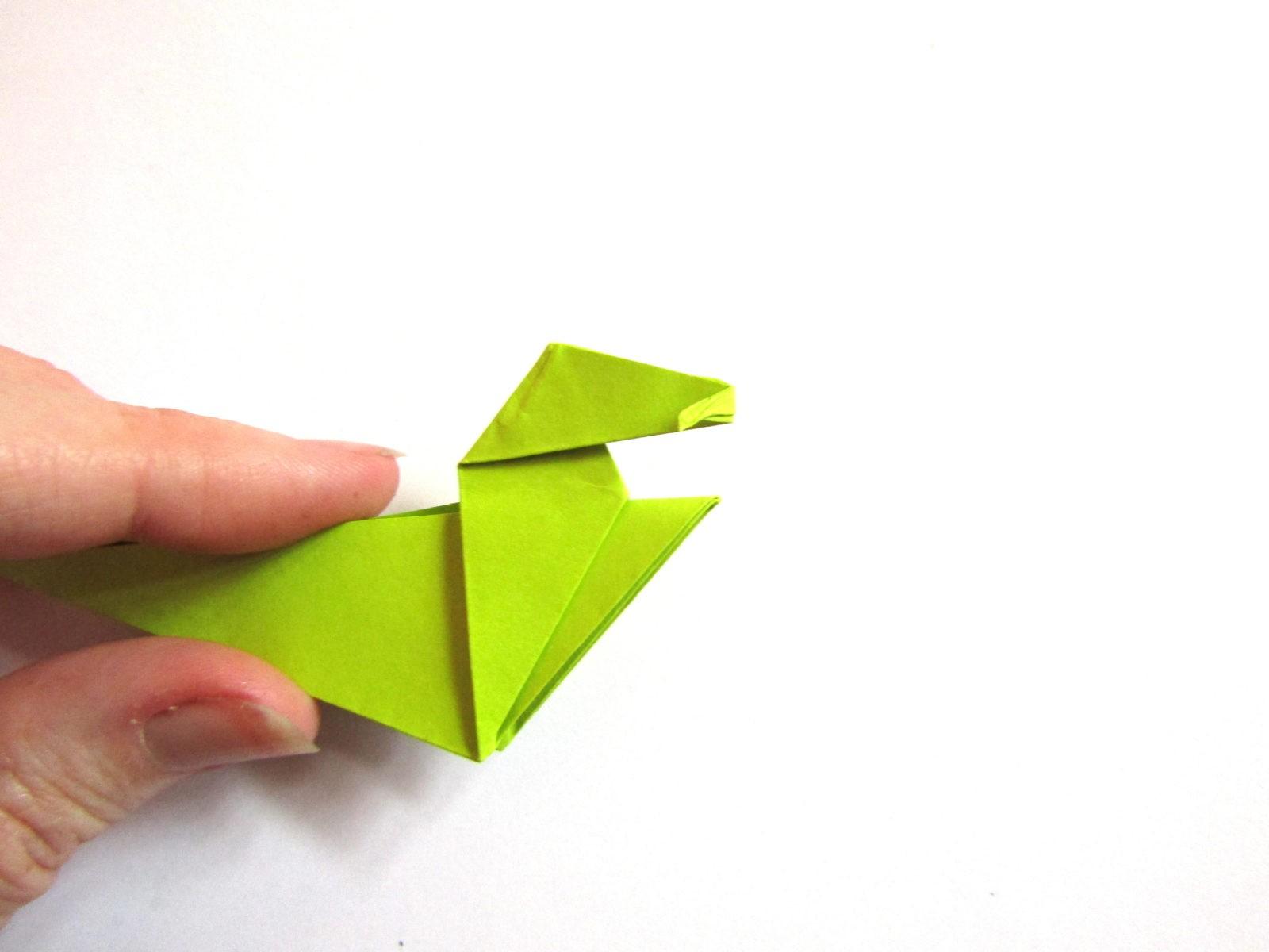 Динозавр оригами из бумаги-15