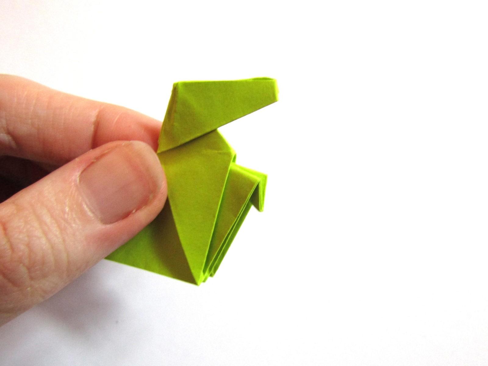 Динозавр оригами из бумаги-17
