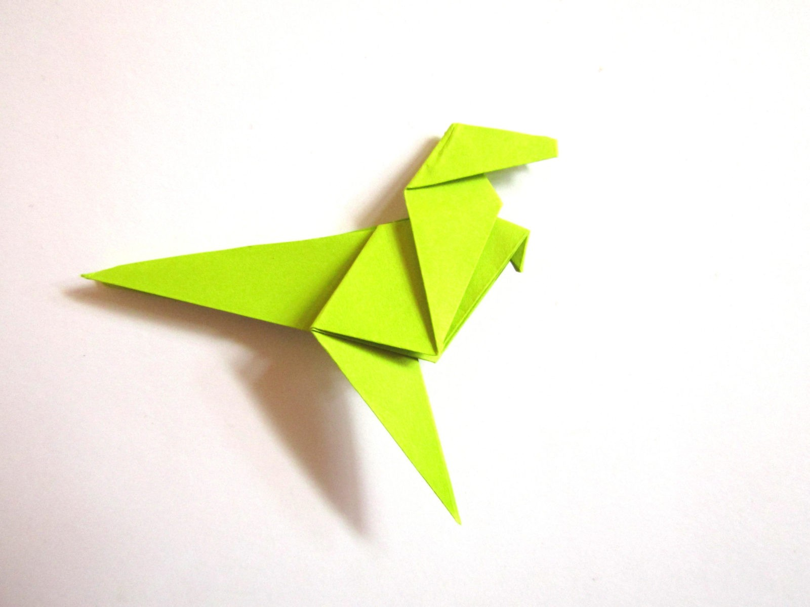 Динозавр оригами из бумаги-19