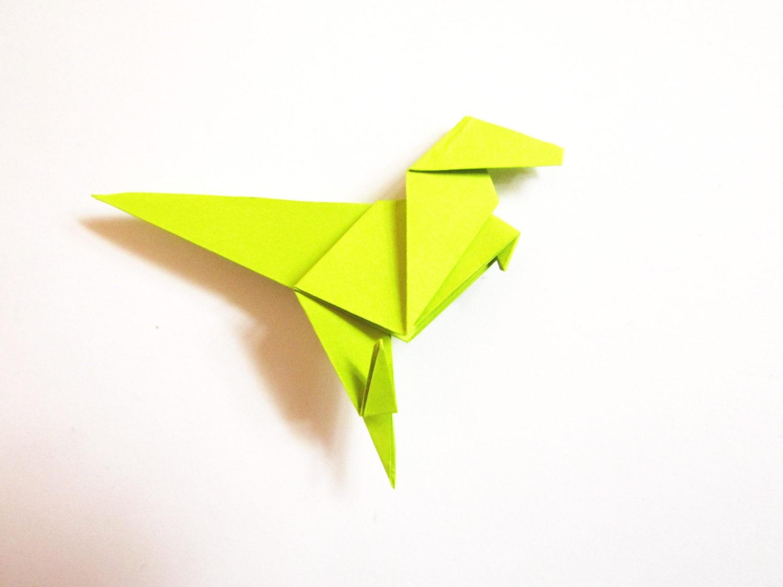 Динозавр оригами из бумаги-22