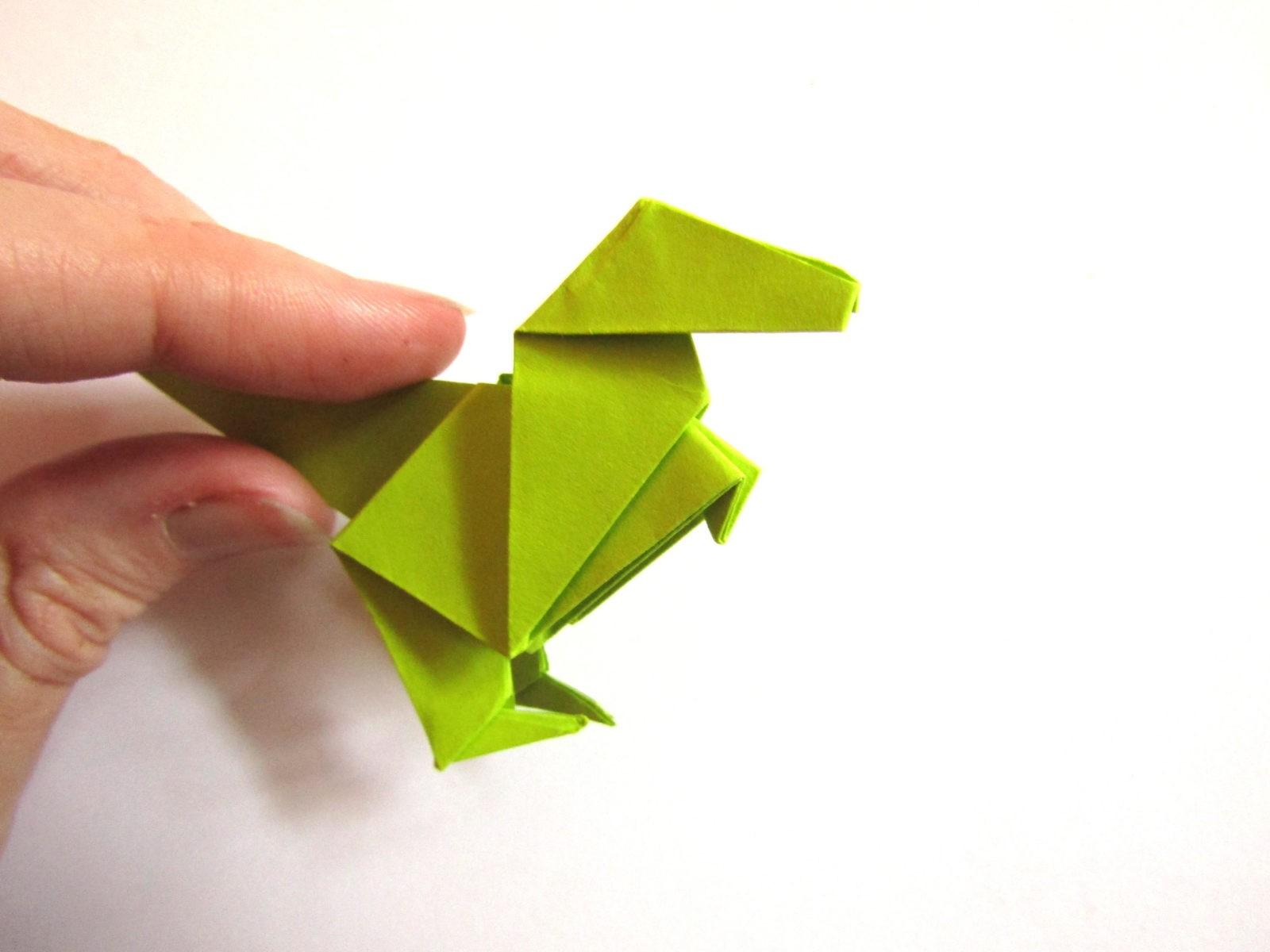 Динозавр оригами из бумаги-23