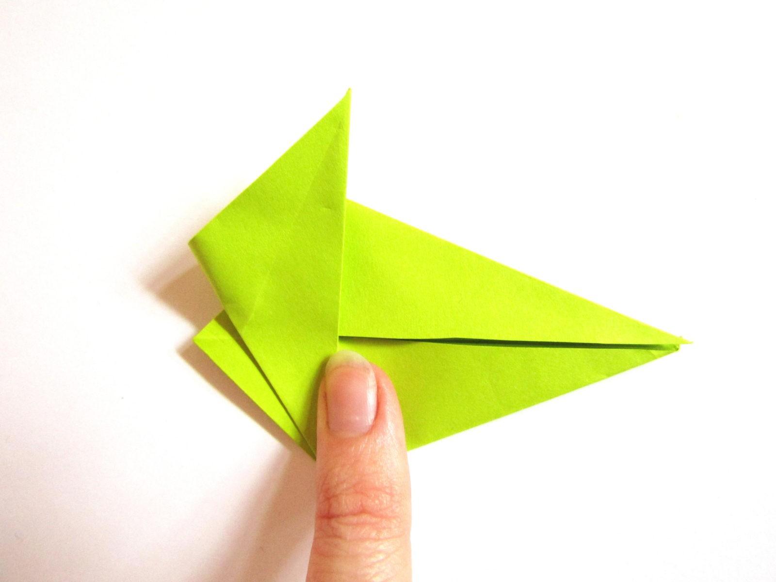 Динозавр оригами из бумаги-9