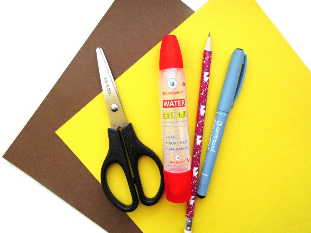 Как сделать ежика из цветной бумаги - 1