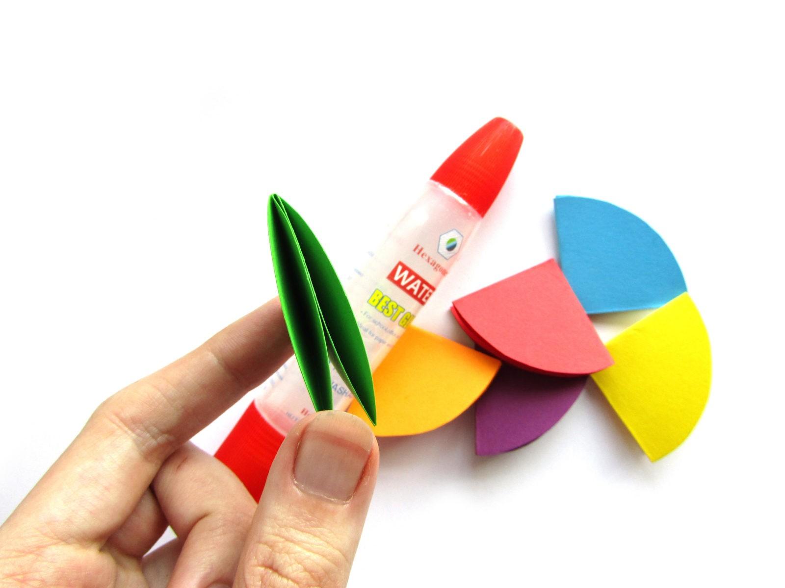 Объемная аппликация зонтик из бумаги - 6