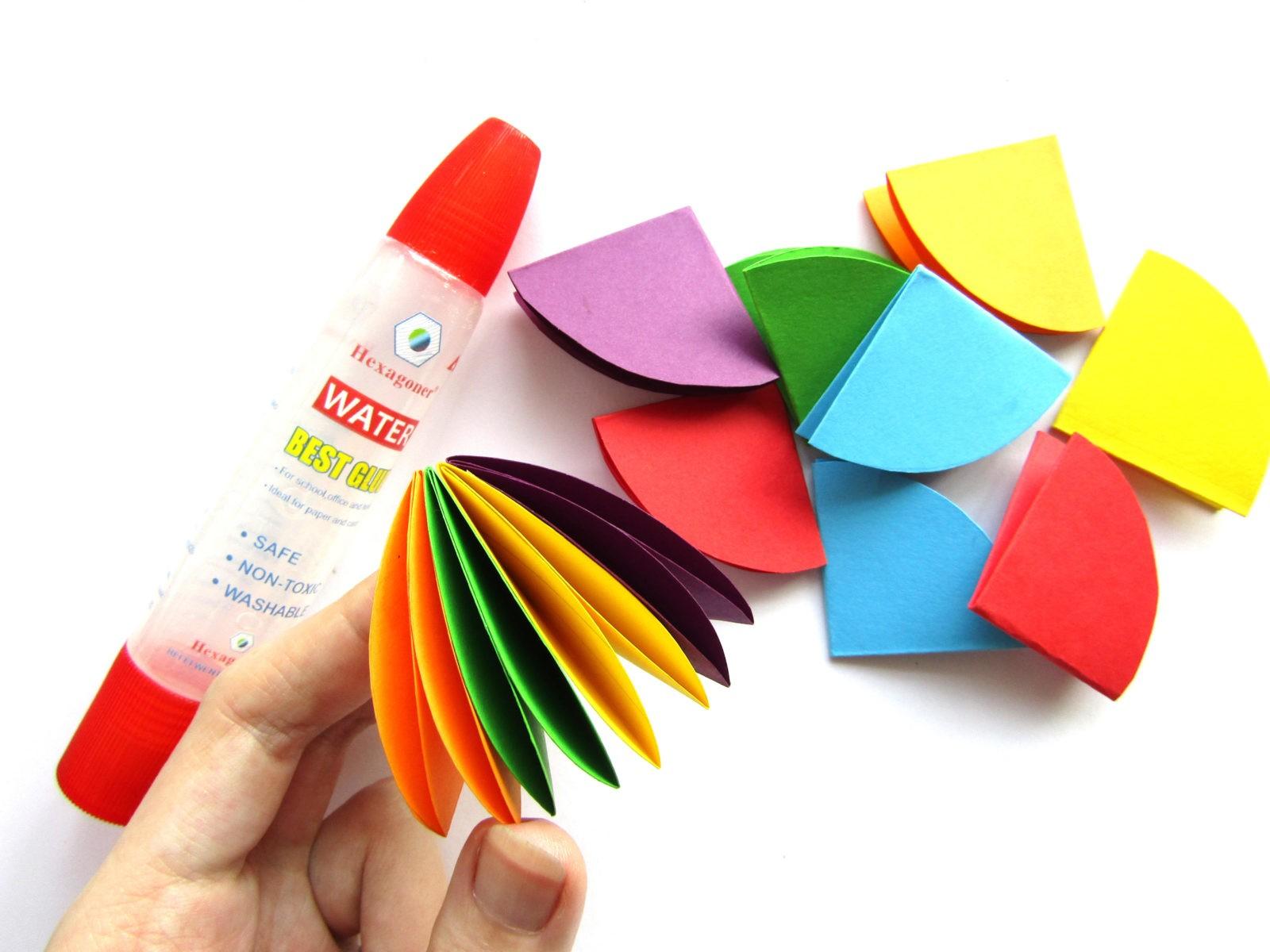 Объемная аппликация зонтик из бумаги - 7