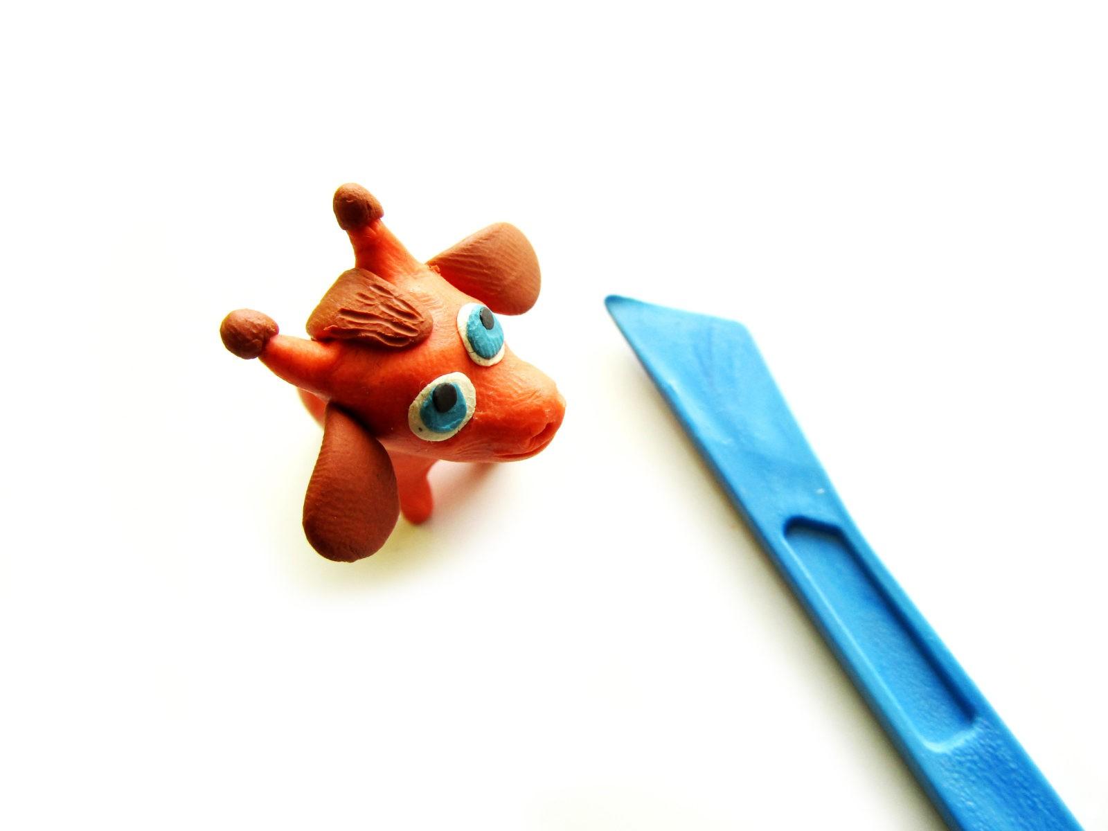 Как слепить жирафа из пластилина - 10