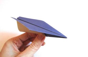 Оригами самолет из бумаги
