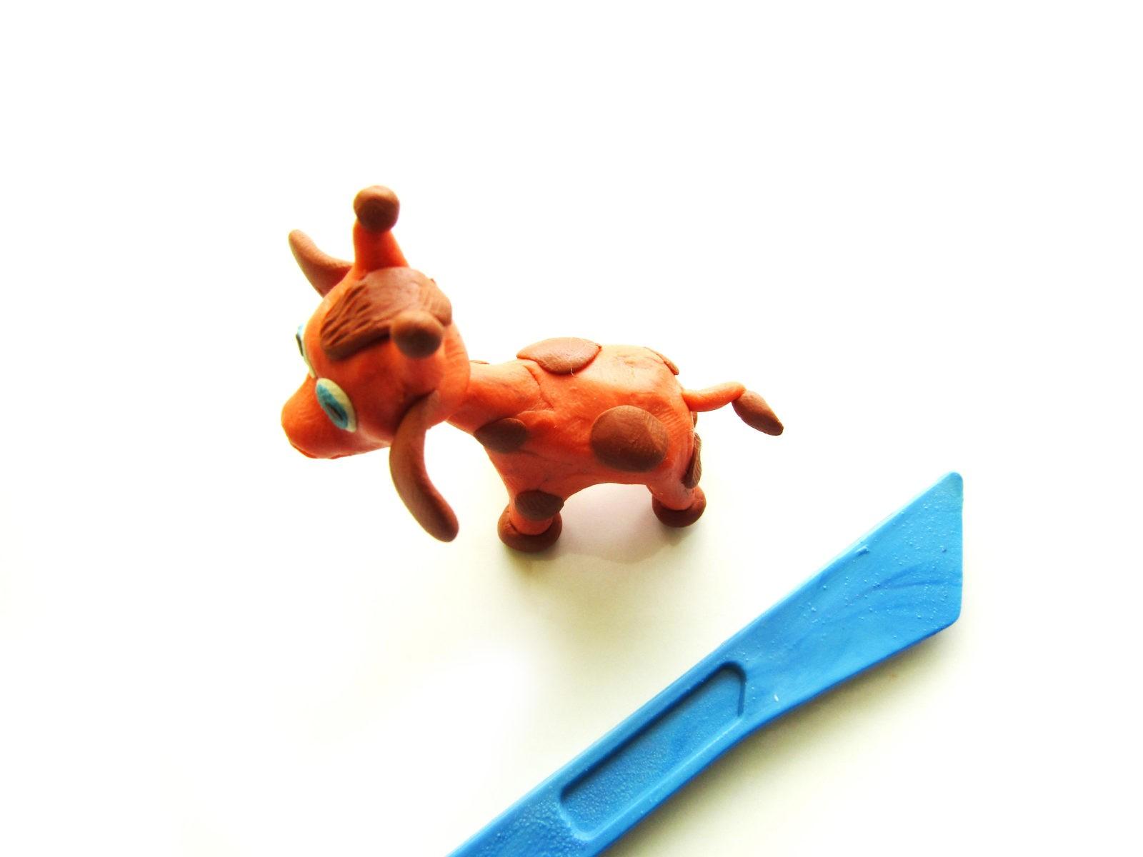 Как слепить жирафа из пластилина - 11
