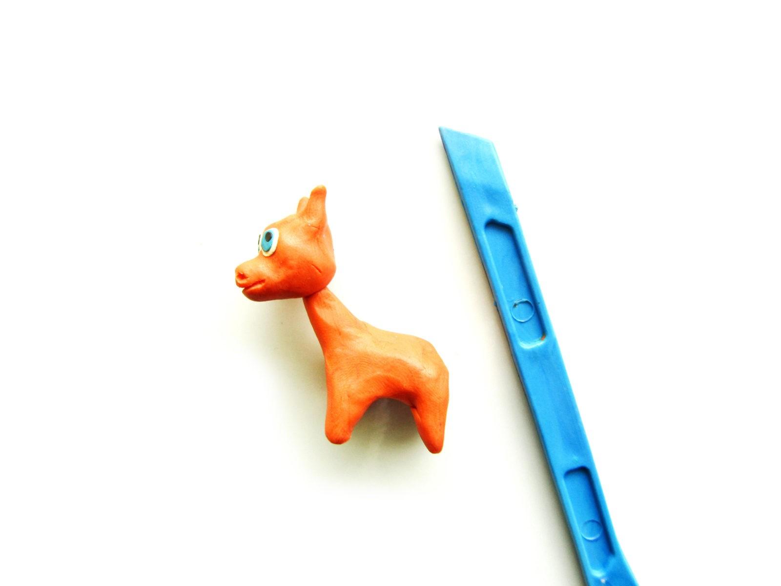 Как слепить жирафа из пластилина - 8