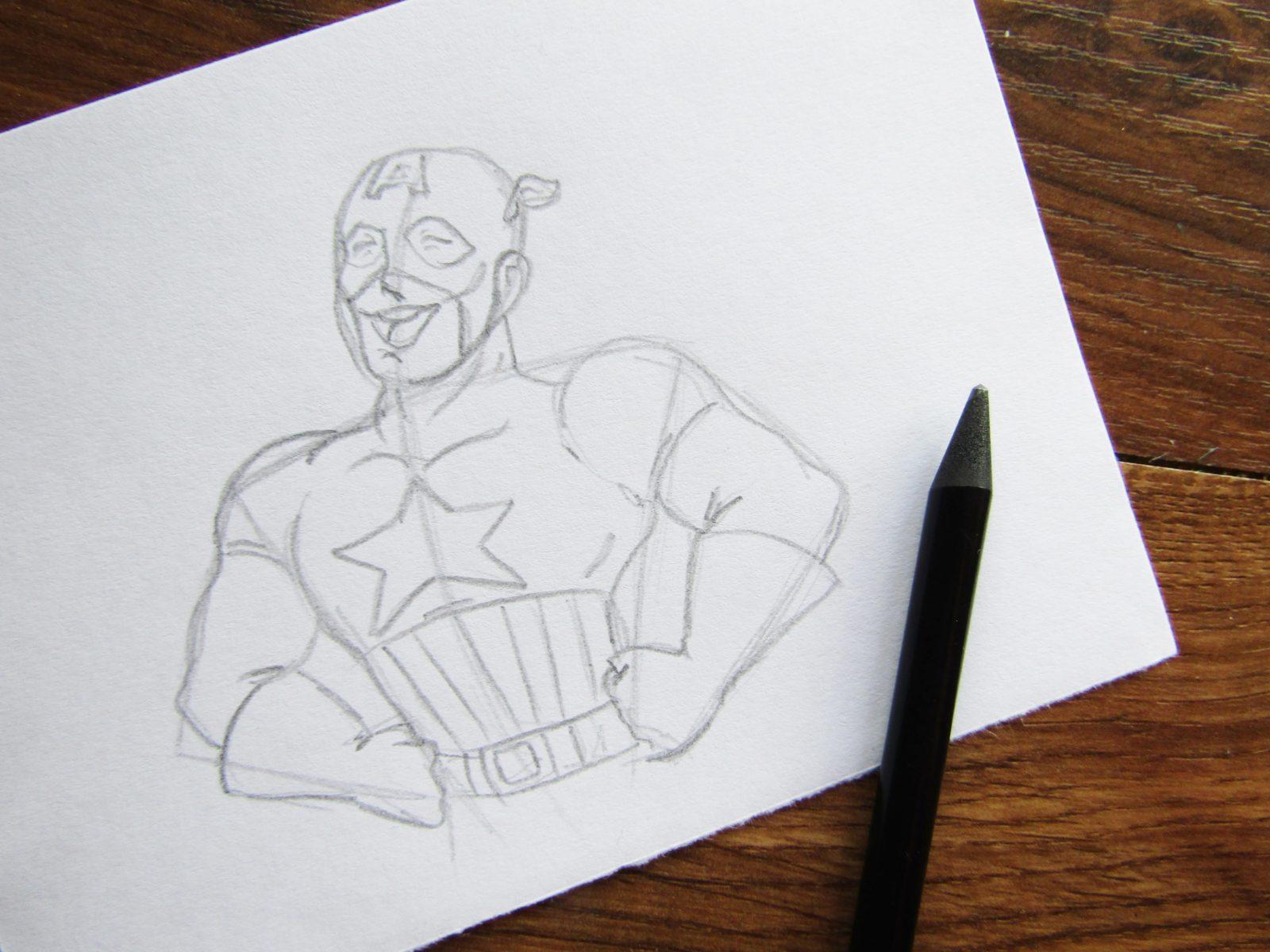 Как нарисовать Капитана Америку - 4