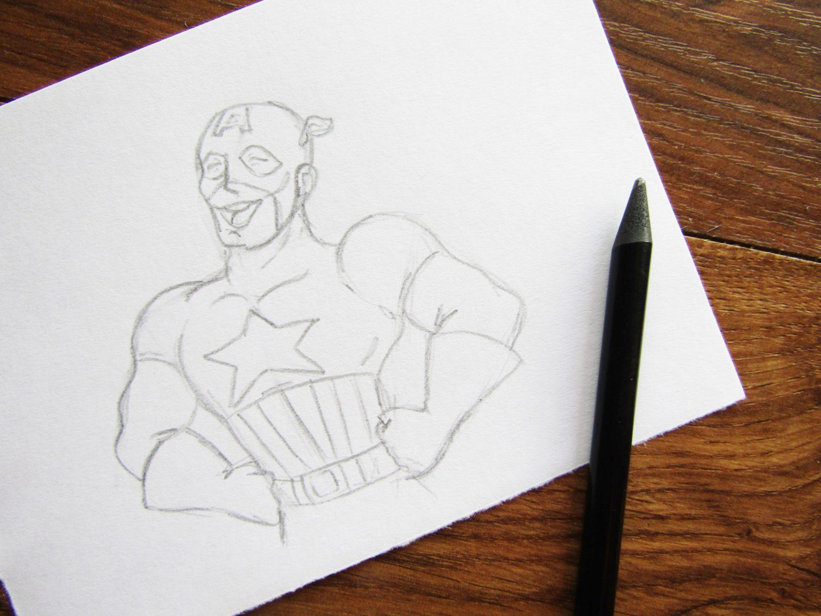 Как нарисовать Капитана Америку - 5
