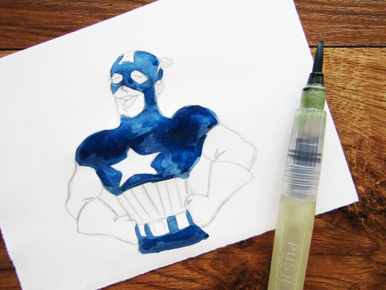Как нарисовать Капитана Америку - 6