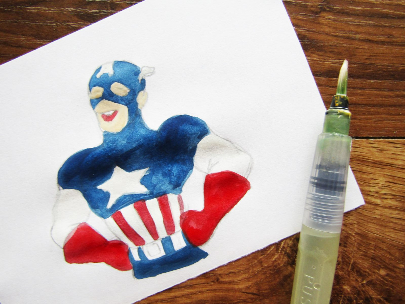 Как нарисовать Капитана Америку - 8