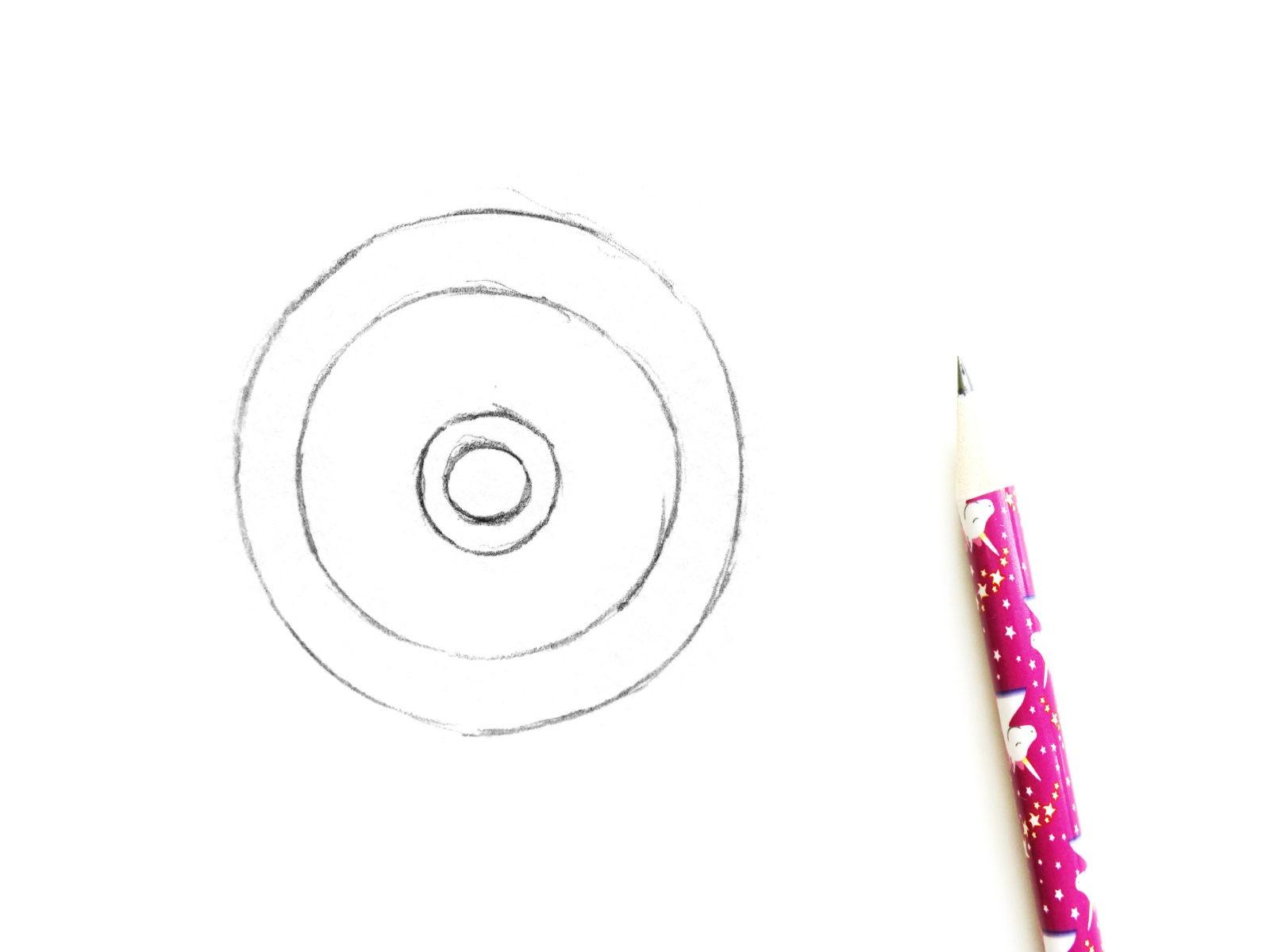 Как нарисовать штурвал акварелью - 1