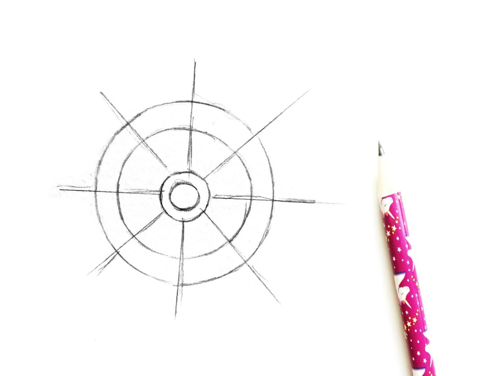 Как нарисовать штурвал акварелью - 2