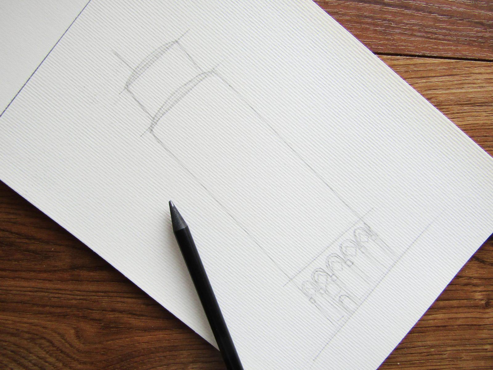 Пизанская башня гуашью - 3