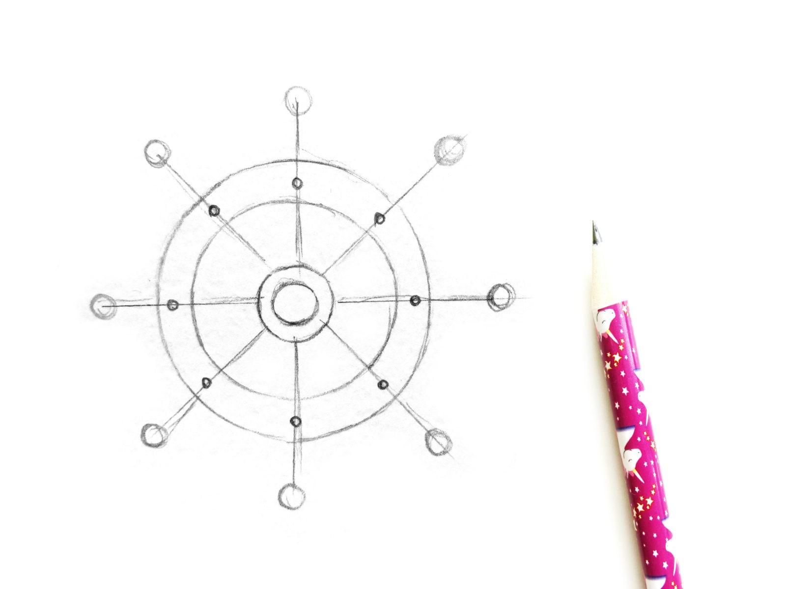 Как нарисовать штурвал акварелью - 3