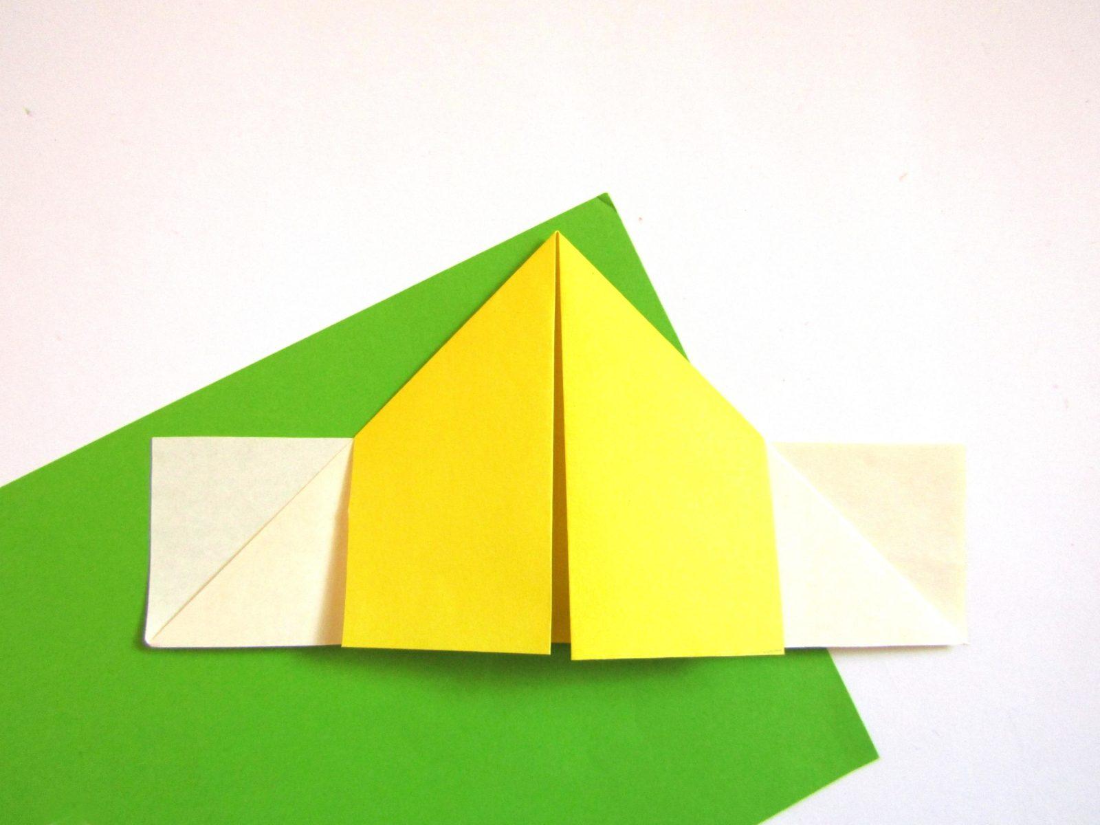 Оригами сердце с крыльями из бумаги - 5