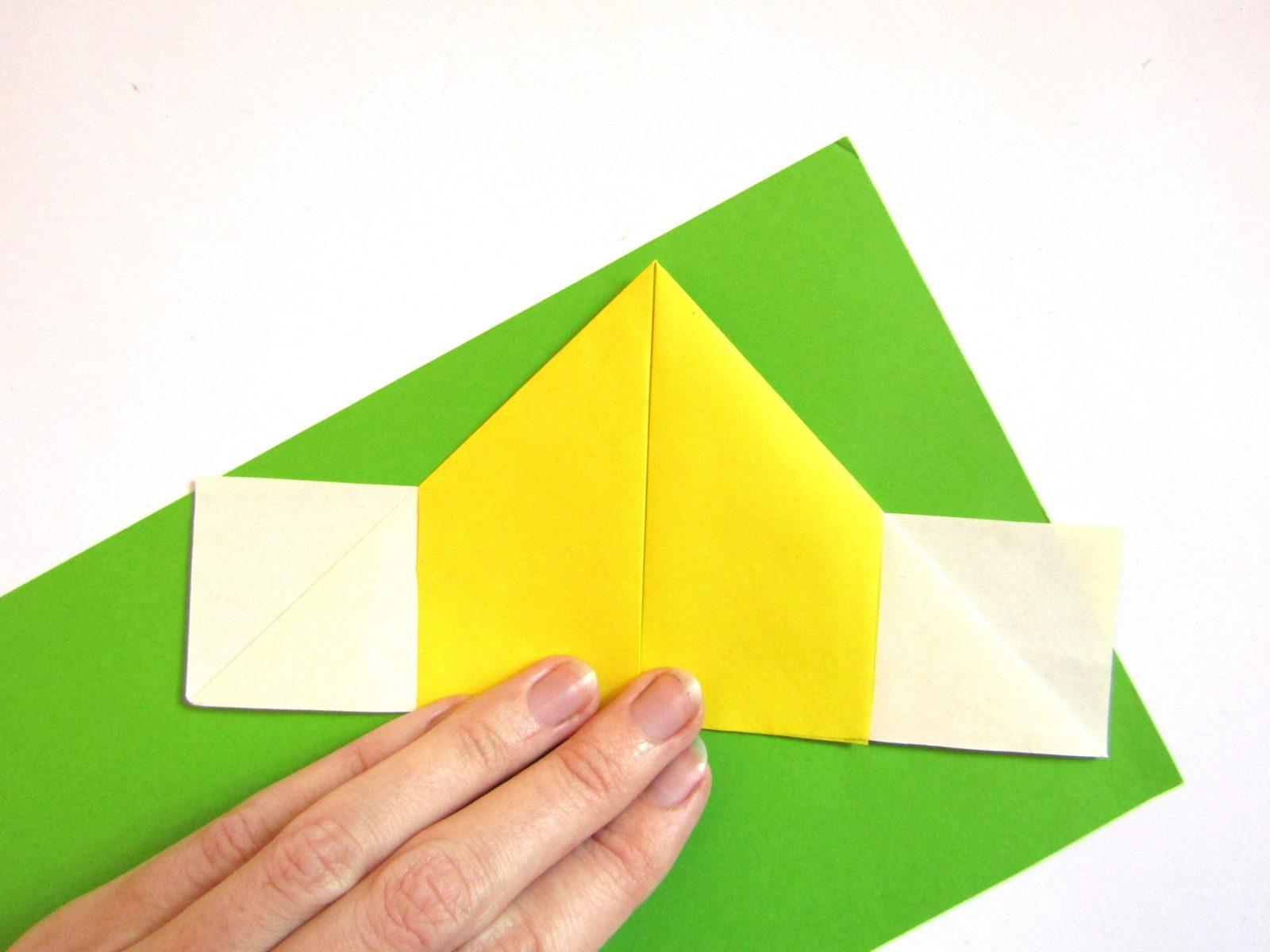 Оригами сердце с крыльями из бумаги - 6